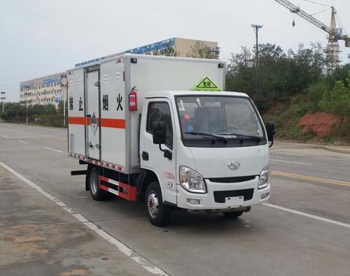 東風途逸國六小藍牌雜項危險物品廂式運輸車