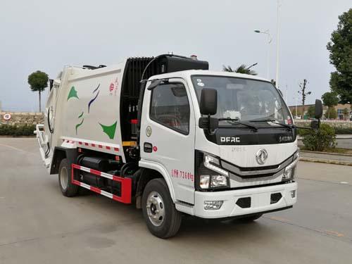国六小多利卡6方压缩式垃圾车