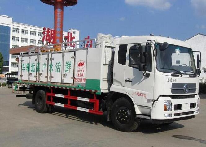 东风天锦鲜活水产品运输车图片