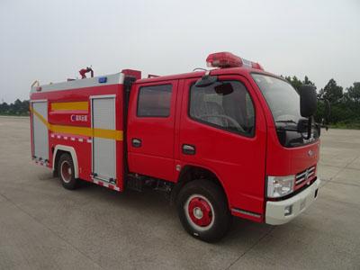 东风多利卡D6双排座干粉水联用消防车