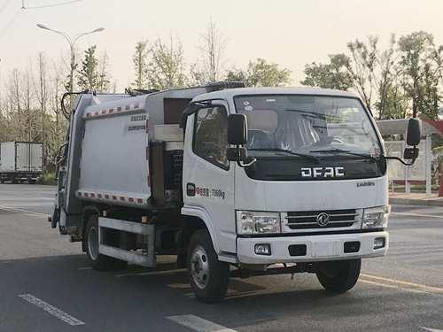 5立方压缩式垃圾车_挂桶压缩式垃圾车组成