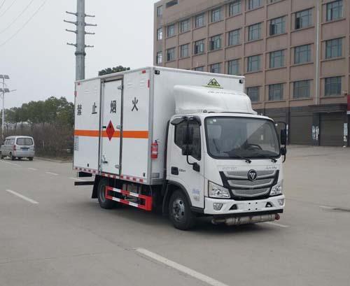 福田奥铃易燃气体厢式运输车(国六)