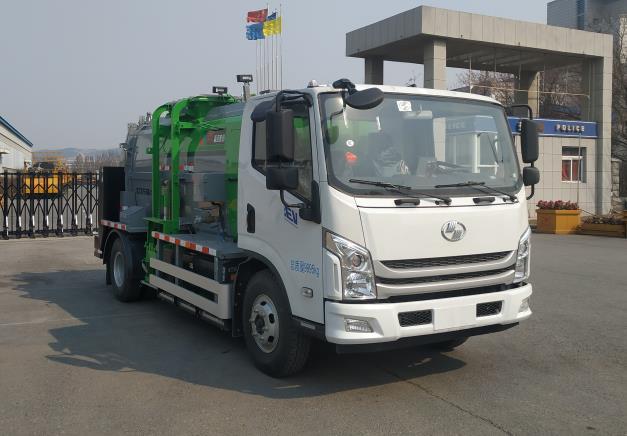 0森远牌纯电动餐厨垃圾车(AD5100TCASQBEV)型多少钱4方餐厨垃圾车图片