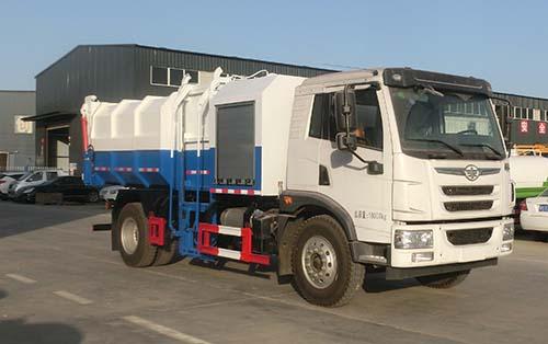 自装卸式垃圾车问题的对策后装压缩式垃圾车液压电动机图片