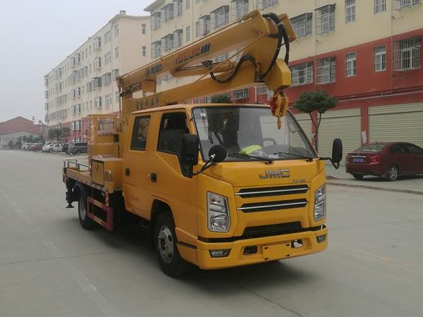 江铃顺达窄体折叠臂13米高空作业车