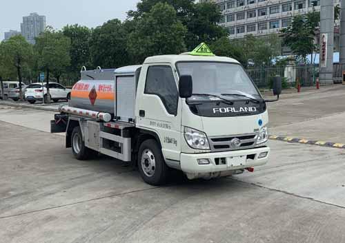 國六藍牌加油車小型油罐車圖片