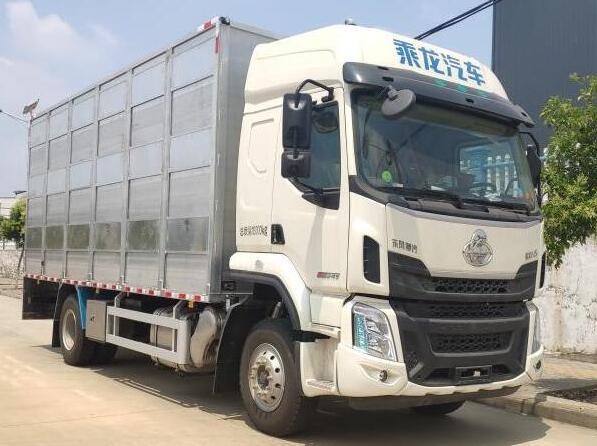 国六柳汽乘龙6.8米铝合金畜禽运输车 恒温猪仔过滤运输车