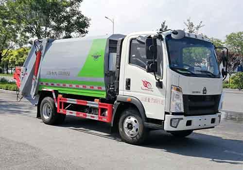 压缩式垃圾车的售后服务微型自卸式垃圾车