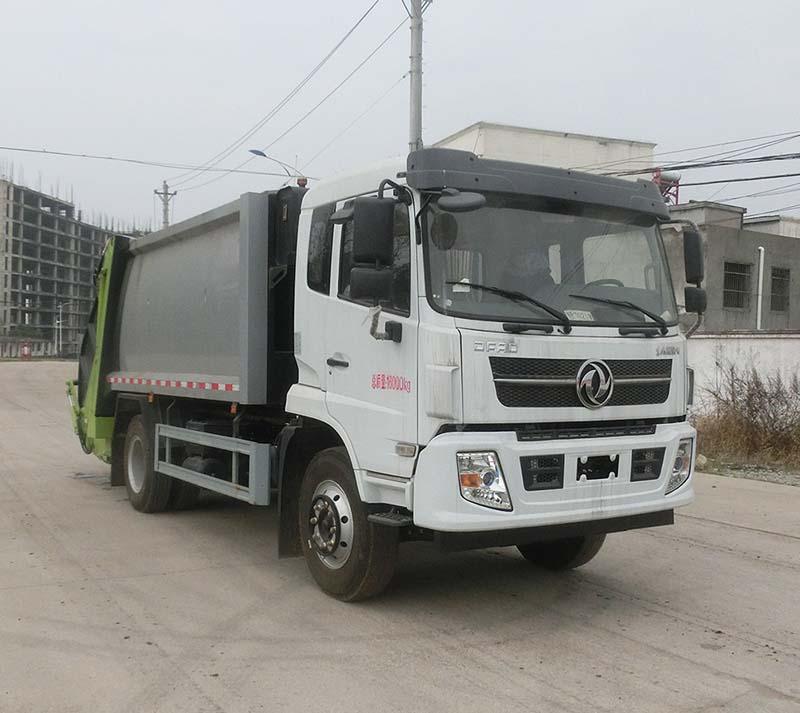 3方勾臂垃圾车垃圾收集箱多少钱?北京牌照二手垃圾车图片