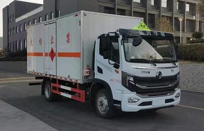 東風華神易燃氣體廂式運輸車