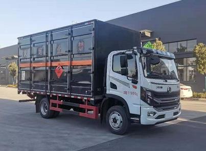 東風華神易燃液體廂式運輸車