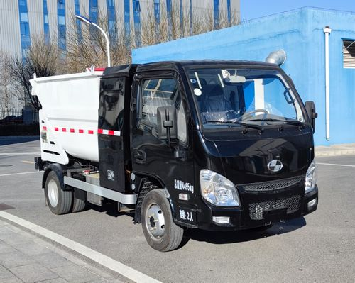 纯电动自装卸式垃圾车图片