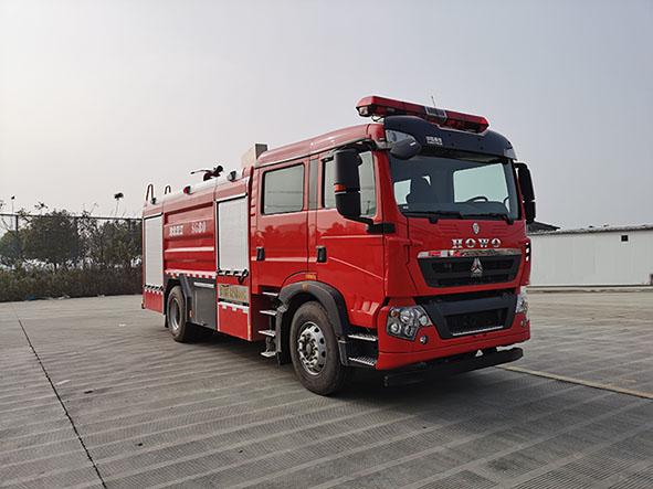 8吨重汽水罐消防车