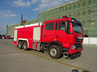 12吨重汽泡沫消防车