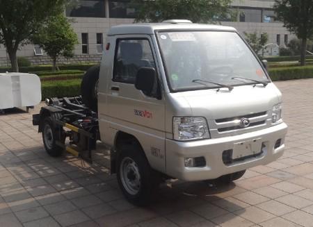 福田牌车厢可卸式垃圾车垃圾车节能环保福龙马压缩式对接垃圾车图片