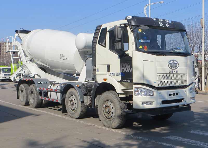 混凝土混凝土搅拌运输车工作流程是怎样的?到天津哪里买二手混凝土搅拌车图片