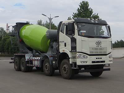 混凝土搅拌运输车罐内混凝土结块对混凝土质量有什么影响?青岛混凝土搅拌车维修图片