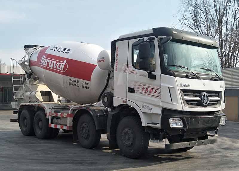 北方重工牌8方混凝土搅拌运输车(BZ5311GJB29NA6)价格表新型混凝土搅拌车图片