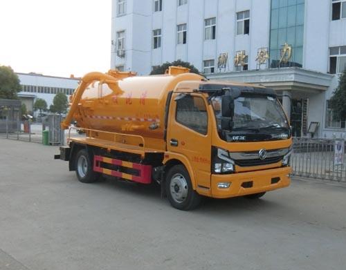 东风天锦14方清洗吸污车带水循环泵介绍东风清洗吸污车图片
