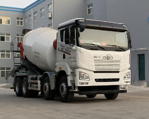 解放牌8方混凝土搅拌运输车(CA5310GJBP27K2L1T4E5A80)报价表混泥土搅拌车设计图片