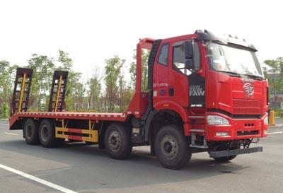 程力威牌平板运输车专用组成及备品配件:挖掘平板运输车图片